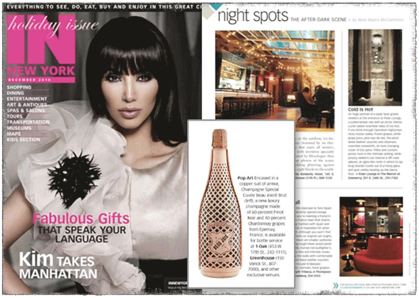 Beau Joie Champagne featured in In New York