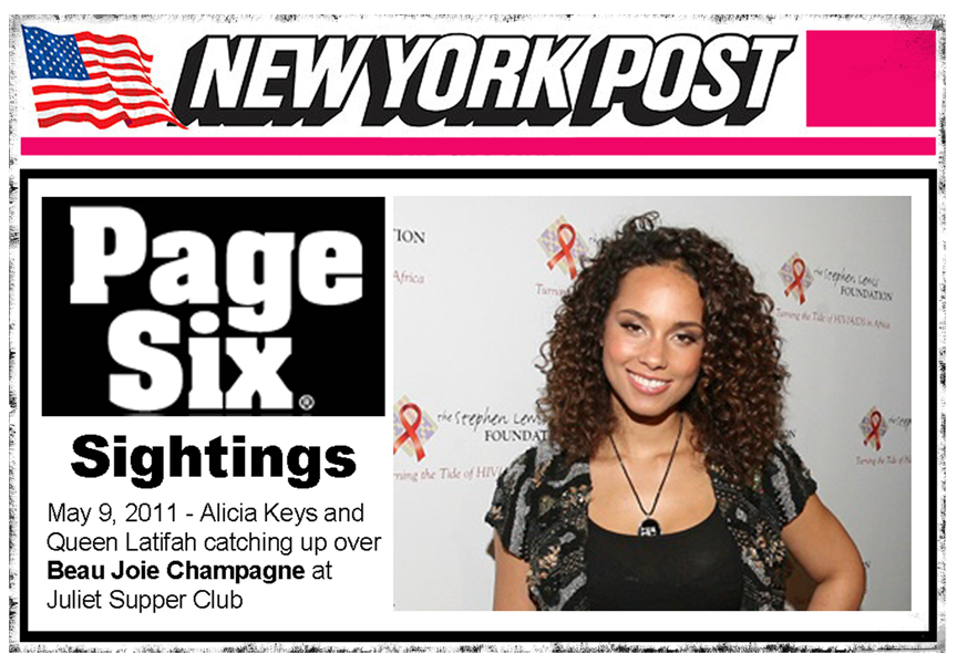 New York Post Page Six – Beau Joie Champagne in the Media